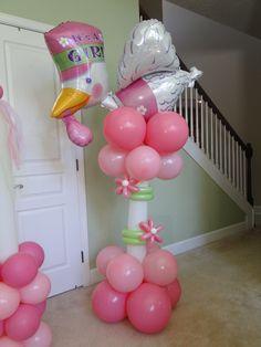 Baby Girl Stork Column