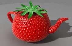 Strawberry teapot. TETERA