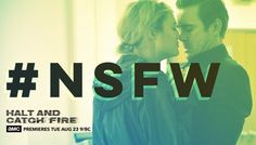 "Halt and Catch Fire - Promotional graphic image. ""Not Safe For the Work"". Season 3. Twitter version"