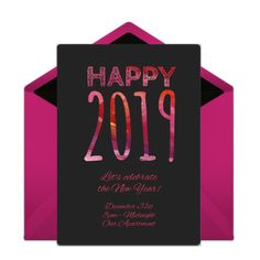 Celebrate the New Year with gorgeous online invitation. Send for free from your computer or phone!