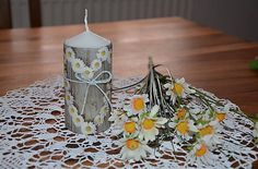 monika1651 / Sviečka Pillar Candles, Table Decorations, Furniture, Home Decor, Room Decor, Home Interior Design, Candles, Home Decoration, Interior Decorating