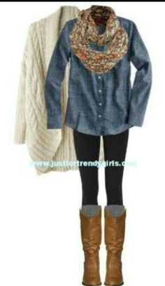 such a cute winter outfit love it take off the sweater and it works for fall :)