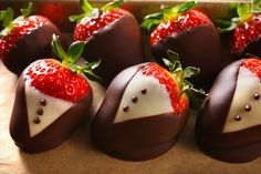 #strawberry #chocolate decoration