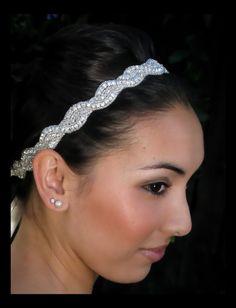Sophie bridal headband rhinestone headband by AmieNoelDesigns Rhinestone Headband, Headpiece Wedding, Crystal Headband, Beaded Headbands, Rhinestone Wedding, Crystal Wedding, Wedding Veils, Wedding Inspiration, Wedding Ideas
