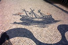 Visit the post for more. Stone Pavement, Crazy Paving, Glazed Tiles, Azores, Deathly Hallows Tattoo, Cool Artwork, Portuguese, Street Art, Creative