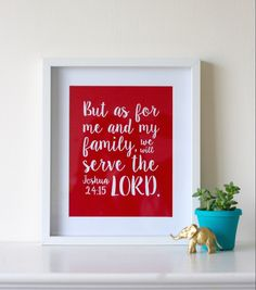 As for me and my family Print and Silhouette file // Free Download - Pure Sweet Joy