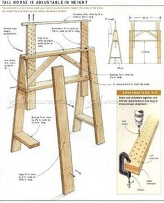 #1425 Sawhorses for The Shop - Workshop Solutions Plans, Tips and Tricks
