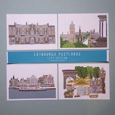 Part 2 of the Edinburgh City Edition postcards.. New Town, Princes Street, The Shore and Stockbridge . . . #edinburgh#architecture#buildings#citymap#citylife#cityillustration#architecturelovers#postcards#theshore#leith#stockbridge#newtown#edinburghnewtown#princesstreet#caltonhill#myedinburgh#mycreativebiz#etsy