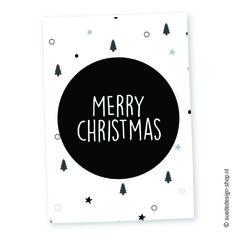 """Kerstkaart """"Merry Christmas"""" #suededesign"""