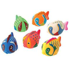 Our vibrant colored Tropical Fish Water Squirters come in assorted colors and styles. These vinyl Tropical Fish Squirters are 4 inches long!