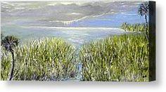 Florida Landscape Painting Canvas Prints - Okeechobee Canvas Print by Christy Usilton