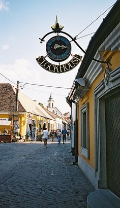 clockhouse, szentendre, Iron Work, Hungary, Wrought Iron, Budapest, Landscapes, Explore, How To Plan, Signs, Building