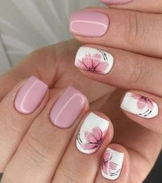 Flower Nail Designs, Flower Nail Art, Nail Designs Spring, Summer Toenail Designs, Daisy Nail Art, Spring Nail Art, Spring Nails, Summer Nails, Cute Nails