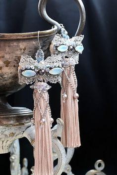 Tassel Jewelry, Seed Bead Jewelry, Seed Bead Earrings, Tassel Earrings, Beaded Earrings, Beaded Jewelry, Jewelery, Handmade Jewelry, Beaded Brooch