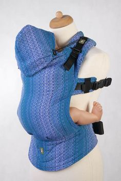 Ergonomic Carrier, Toddler Size, jacquard weave 100% cotton - wrap conversion from LITTLE LOVE - OCEAN, Second Generation