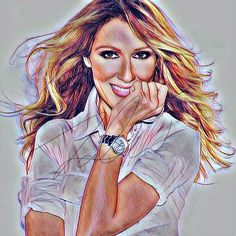 Celine Dion Sketch Drawing PRINT Wall Art Illustration Singer