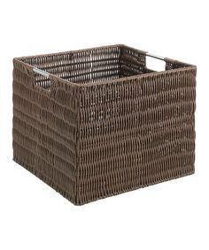 This Brown Rattique Storage Crate is perfect! #zulilyfinds