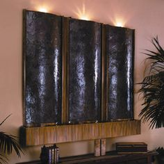 These Indoor Waterfall Fountains Include 3 Lights.