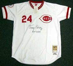 Cincinnati Reds #24 Tony Perez 1974 White Throwback Jersey