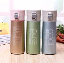 500ml Progress Travel Thermal Insulated Bottle With Screw Top Lid Mug Cup Grey