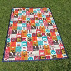 Love RSA handmade picnic blanket from Ruby & Me