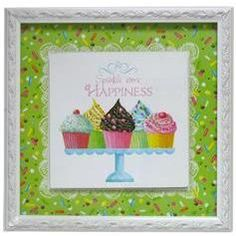 Wall Picture - Sprinkle Some Happiness  Love the cupcake theme for the kitchen