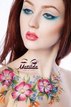 Matilda make-up schoolFace and body paint#beautiful#art