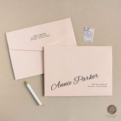 Printable Wedding Envelope Template | INSTANT DOWNLOAD | Peach | Calligraphy Alternative | for Word or Pages Mac & PC