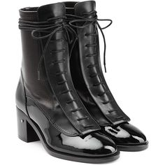 Laurence Dacade Ankle Boots (770 CAD) ❤ liked on Polyvore featuring shoes, boots, ankle booties, ankle boot, black, black ankle bootie, black booties, short boots, lace-up ankle booties and black lace up bootie