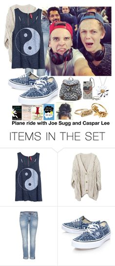 """""""Plane ride with Joe sugg and Caspar Lee"""" by cj-london ❤ liked on Polyvore featuring art"""