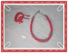 Cuqui♥Conjunto collar y pulsera  12€ #bracelet #necklace #kumihimo