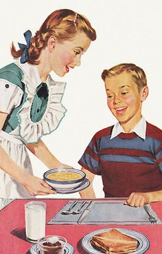 Soup For Lunch - detail from 1952 Campbell's Soup ad.