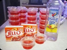 Pineapple Parrot Bay + Tropical Fusion JELLO! Yummy for the beach!