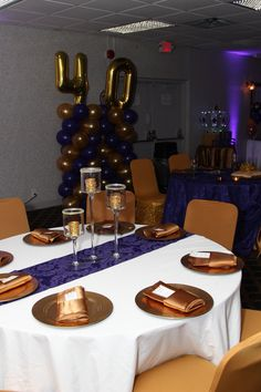Purple and Gold Room View