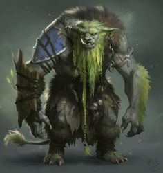"One of the ""Sylvan-touched"" Ogres, ones whom come in contact with the magical fae of the Elven Woods often are changed"