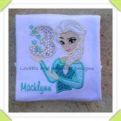 Frozen Snow Queen Elsa Personalized Birthday Shirt on Etsy, $22.50