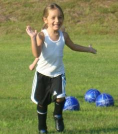 Happy Little Soccer Player