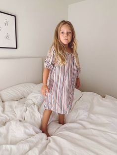100% Cotton Cozy Nightdresses from La Paloma for fall. Love the Butterfly print. Sizes 2-9.