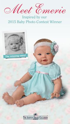 Introducing Emerie, inspired by our second annual baby photo contest winner! With that sweet face, Emerie has stolen our heart!