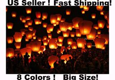 Wholesale Lot 10/20/50 Chinese Sky Lanterns 8 Colors Wedding Party Wish Balloons Trevor and I call these galactic dumplings... At end of Wedding, Guests make a wish and send to the sky