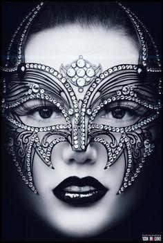 Glamorous mask....