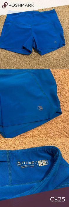 Shop Women's MPG Blue size M Shorts at a discounted price at Poshmark. Hot Shorts, Gym Shorts Womens, Buy And Sell, Product Description, Best Deals, Closet, Blue, Stuff To Buy, Beauty