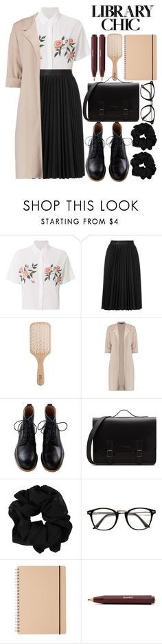 """Cute librarian."" by ra-nana ❤ liked on Polyvore featuring Rails, Astraet, Philip Kingsley and library"