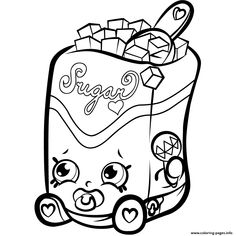 Sugar Lump Shopkins Season Coloring Pages Printable And Book To Print For Free Find More Online Kids Adults Of