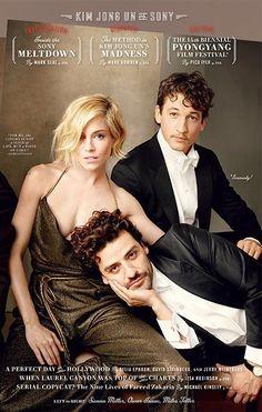 Vanity Fair: The 2015 Hollywood Issue Cover  (Sienna Miller, Oscar Isaac, Miles Teller)