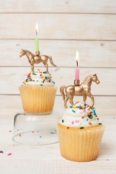 Add some whimsy and flare to any get-together or birthday party with this gold horse candle holder. This candle holder fits perfectly on any
