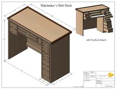 Watch Makers Bench by Kenneth Perez, via Behance