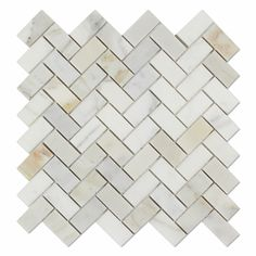Calacatta Gold (Italian Calcutta) Marble 1 X 2 Herringbone Mosaic Tile, Polished: Perfect for use in any /b interior / exterior (residential or commercial) project; Stone Mosaic Tile, Marble Mosaic, Mosaic Tiles, Pool Tiles, Calacatta Gold Marble, Calacatta Oro, Marble Quartz, Calcutta Marble, Marble Polishing