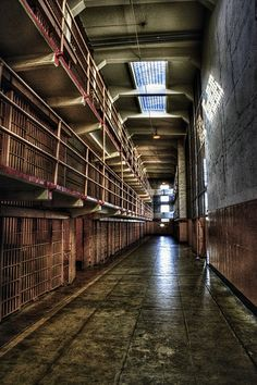 An HDR of Alcatraz prison
