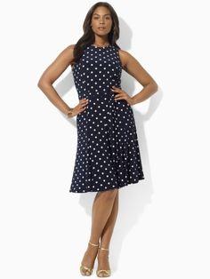 14691ecf03f41 Ralph Lauren Dress Plus Cutaway Flare Dress Women - Plus - Dresses -  Bloomingdale s